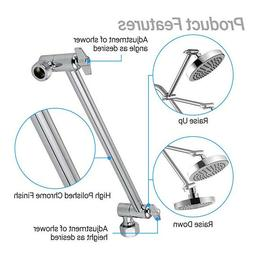 SparkPod Adjustable Shower Arm Wall Mount Pipe Extension Hea
