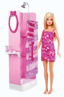 Barbie Glam Shower Beauty Bathroom Playset With Doll & Vanit