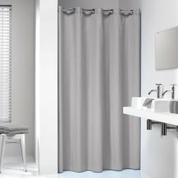 Extra Long Hookless Shower Curtain 72 x 78 Inch Sealskin Col