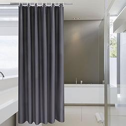 Aoohome Extra Long Shower Curtain 72 x 84 Inch, Solid Fabric