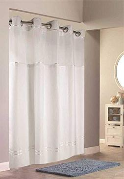 Hookless HBH40E257 Escape Shower Curtain With Snap in Liner