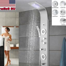 LED Shower Panel Tower Column Waterfall Bathroom System Unit