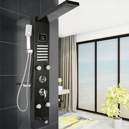 LED Shower Panel Tower Faucet Rainfall Waterfall Shower Fauc