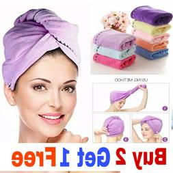 Rapid Fast Drying Hair Absorbent Towel Turban Wrap Soft Show