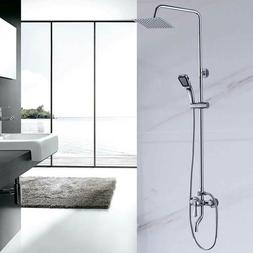 Shower Faucet Set Square Shower Head Bathroom Wall-mounted B