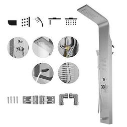 Shower Panel Tower Massage System Stainless Steel Wall Mount