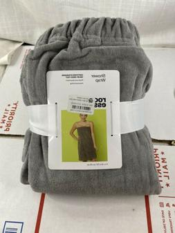 Room Essentials Shower Wrap 31x39 Inches - Gray New