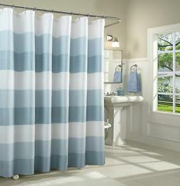 Spa 251 Ombre Waffle Striped Shower Curtain